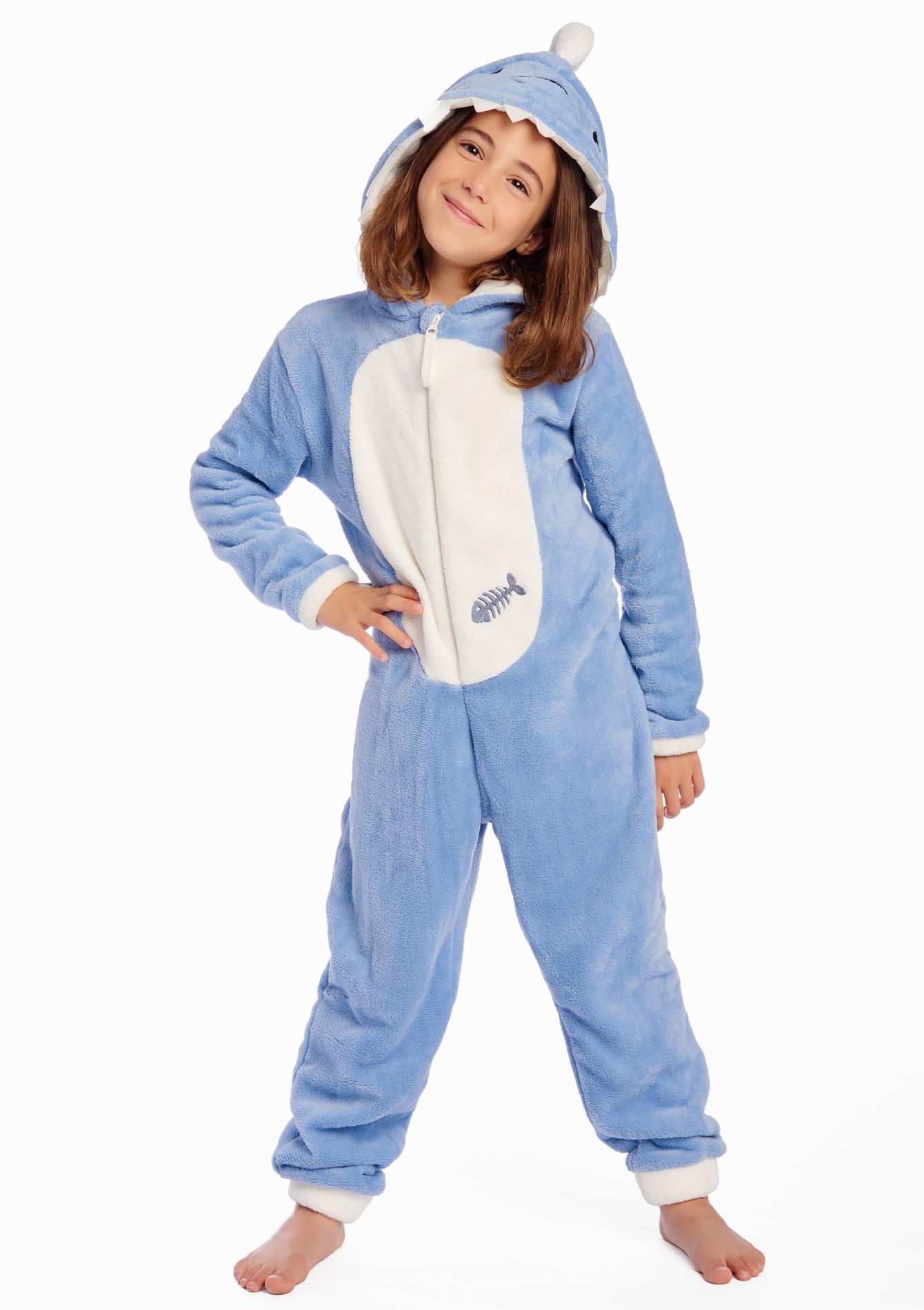 combinaison pyjama enfant style requin lolaliza. Black Bedroom Furniture Sets. Home Design Ideas