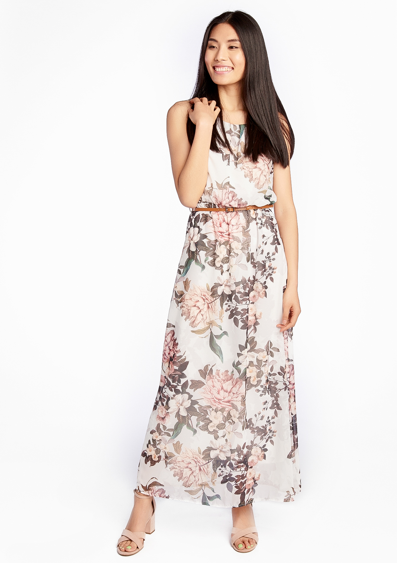 robe longue imprim floral lolaliza. Black Bedroom Furniture Sets. Home Design Ideas