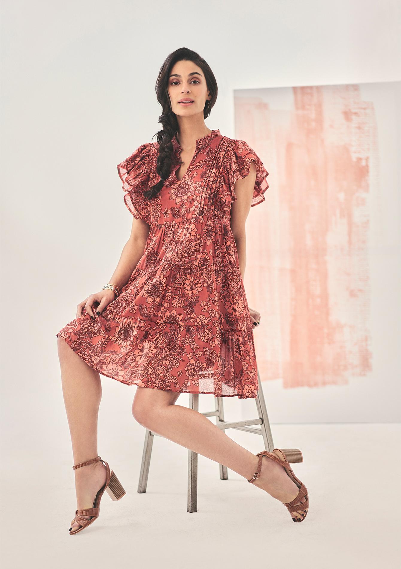 Robe babydoll fleurie Tatiana Silva - LolaLiza - Modalova