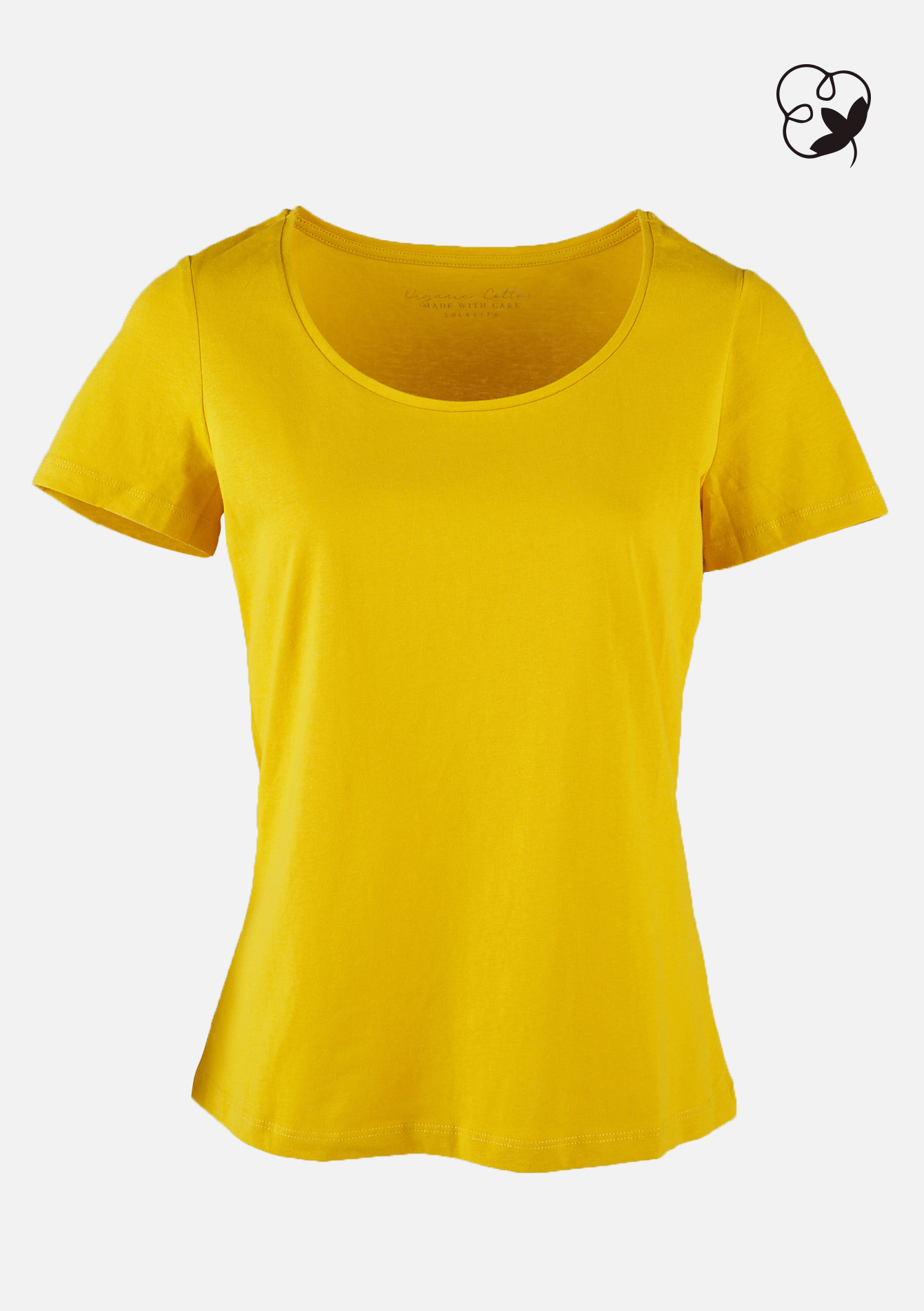 T-shirt coton organique - REAL OCHER - 02300602_5107