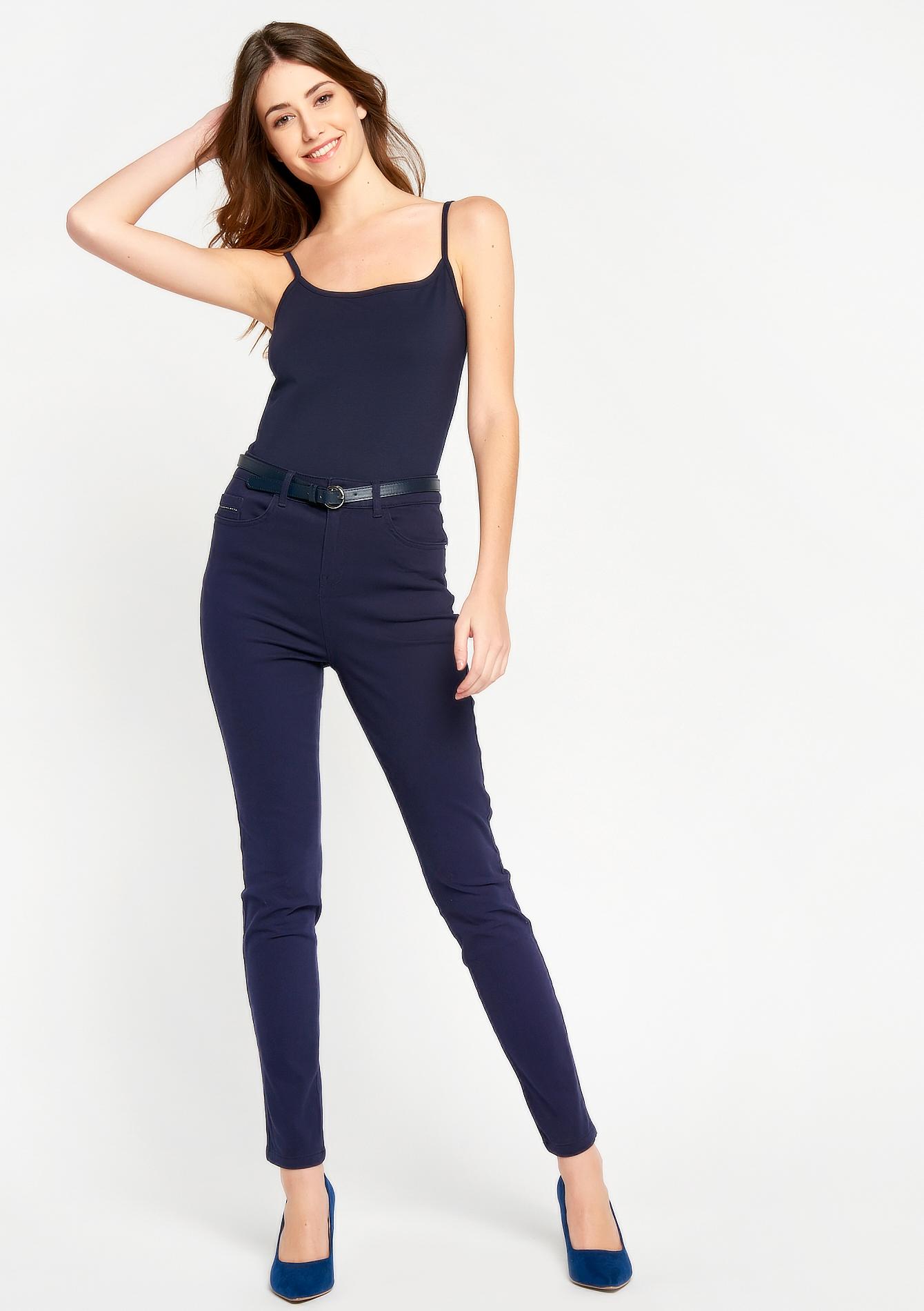 pantalon slim taille haute lolaliza. Black Bedroom Furniture Sets. Home Design Ideas
