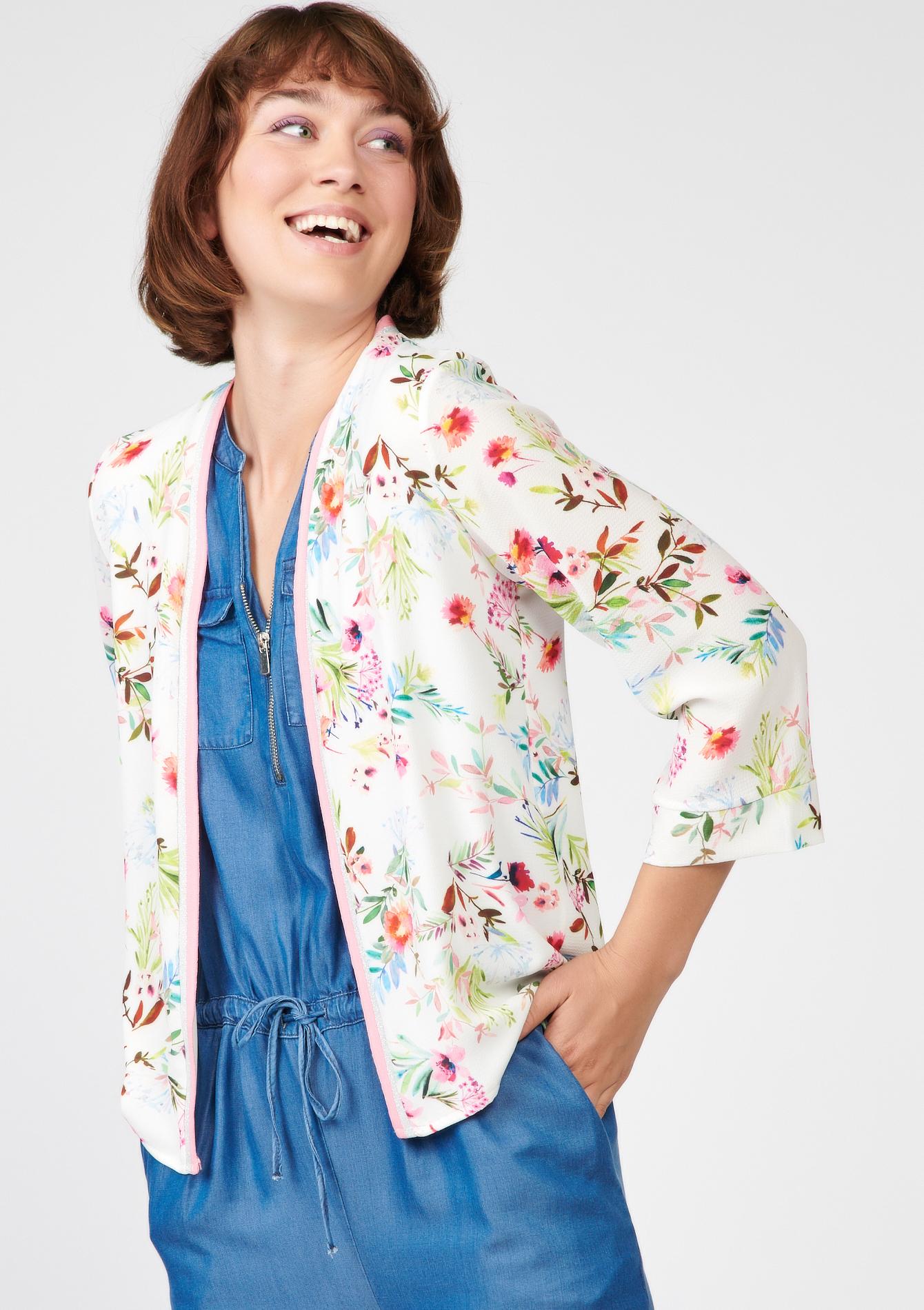 veste style kimono fleurs lolaliza. Black Bedroom Furniture Sets. Home Design Ideas