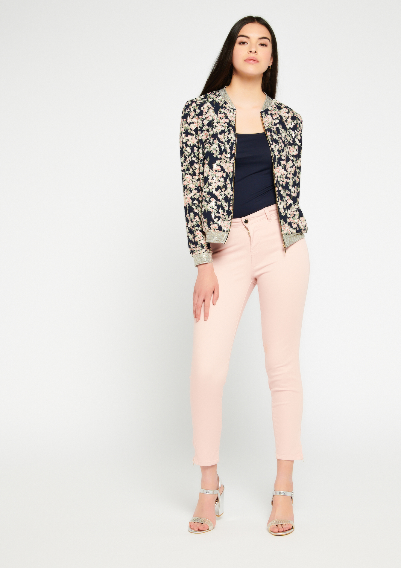 Bomber bloemenprint - NAVY BLUE - 09100226_1651