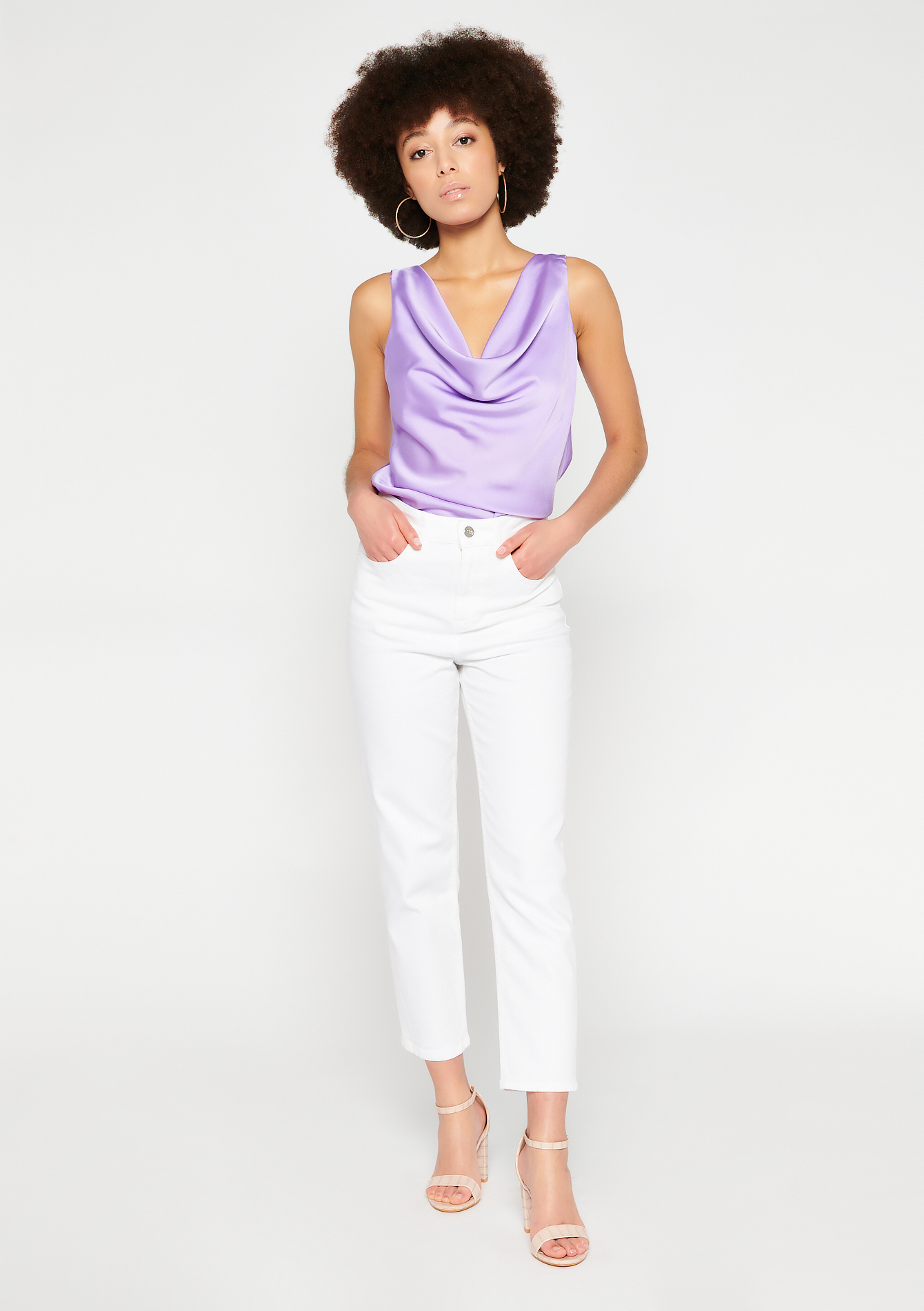 Slim denim broek - WHITE - 22000297_0506