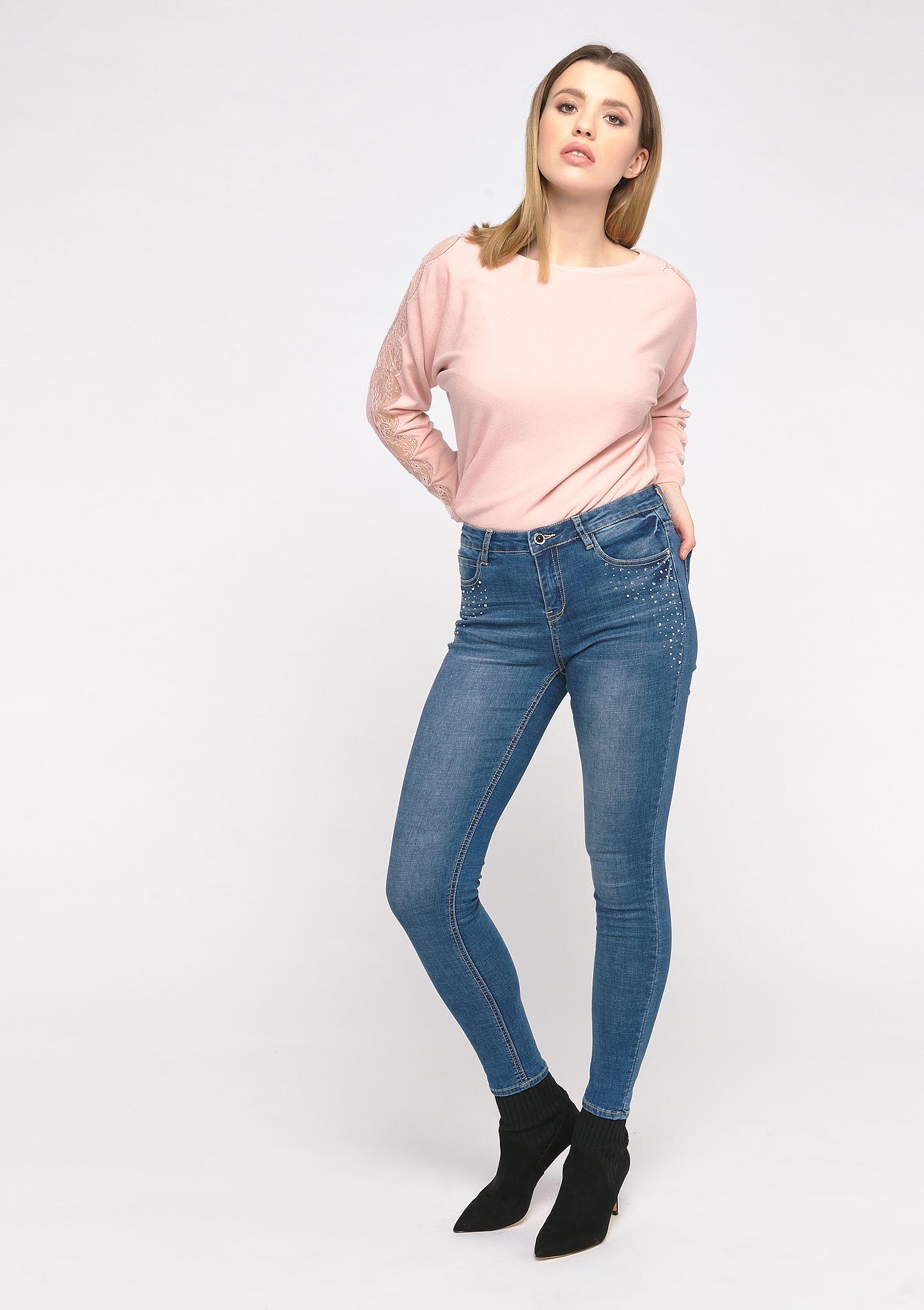 Jeans skinny avec paillettes